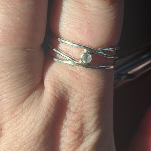 SOLD Sterling silver aquamarine ring